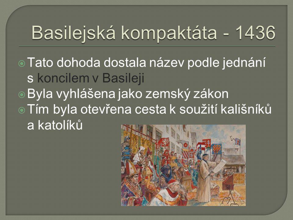 Basilejská kompaktáta - 1436