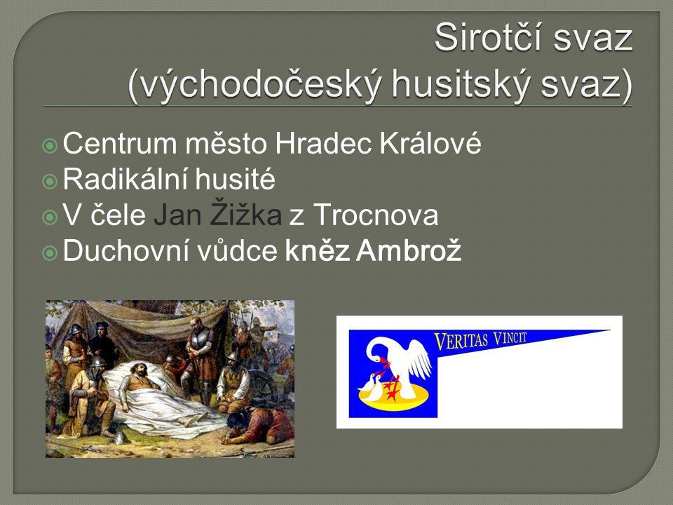 Sirotčí svaz (východočeský husitský svaz)