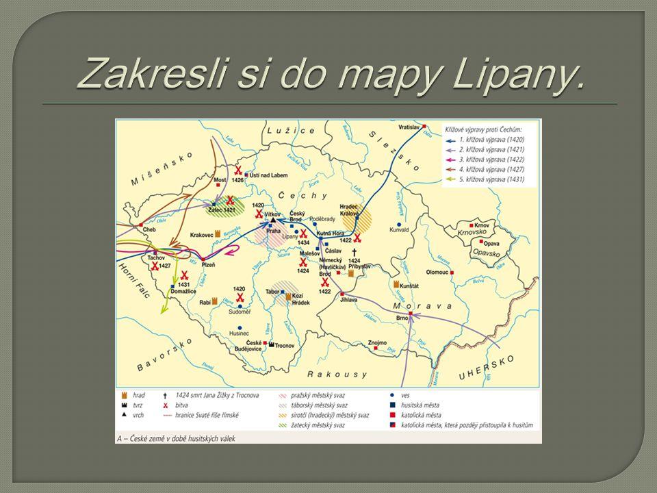 Zakresli si do mapy Lipany.