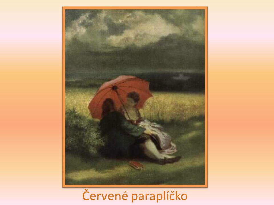 Červené paraplíčko