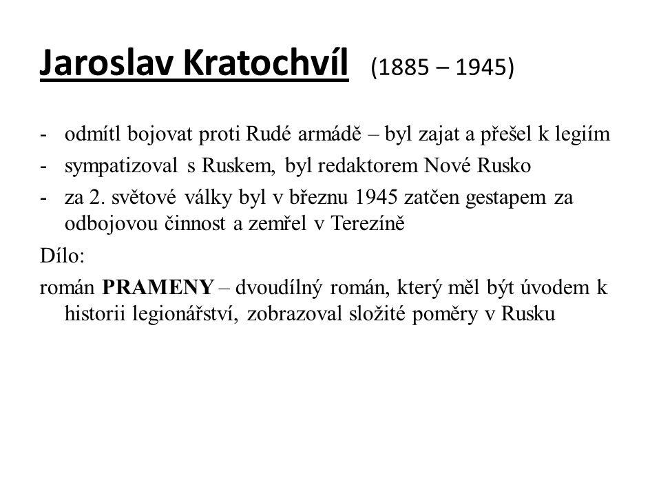 Jaroslav Kratochvíl (1885 – 1945)