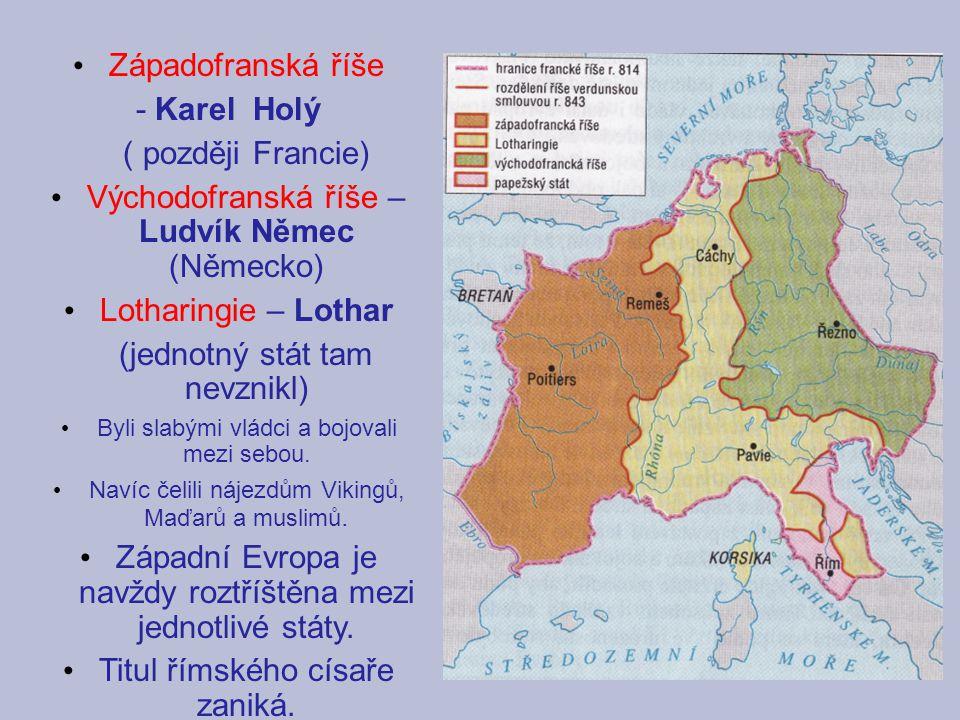 Východofranská říše – Ludvík Němec (Německo)