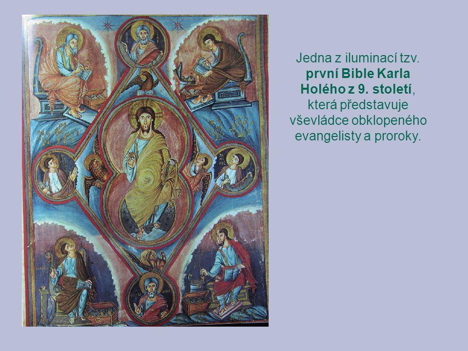 Jedna z iluminací tzv. první Bible Karla Holého z 9