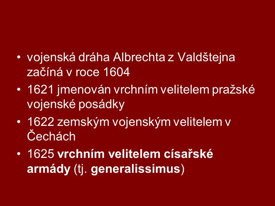 vojenská dráha Albrechta z Valdštejna začíná v roce 1604