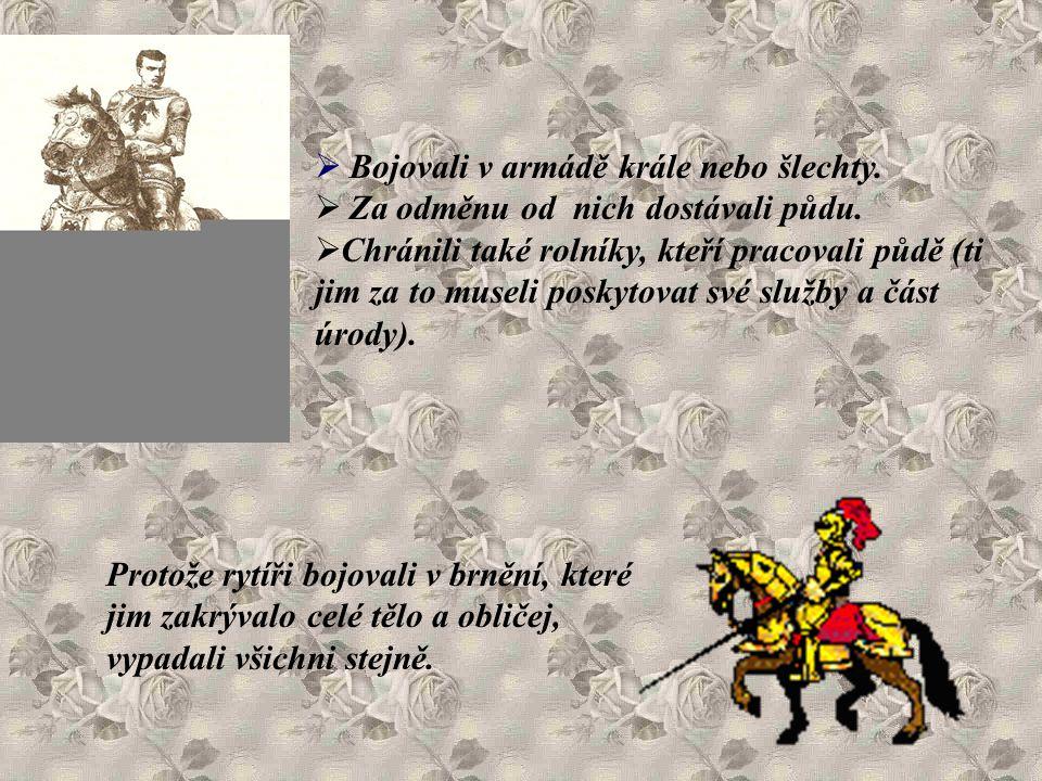 Bojovali v armádě krále nebo šlechty.