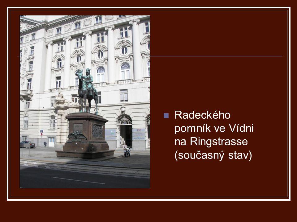 Radeckého pomník ve Vídni na Ringstrasse (současný stav)