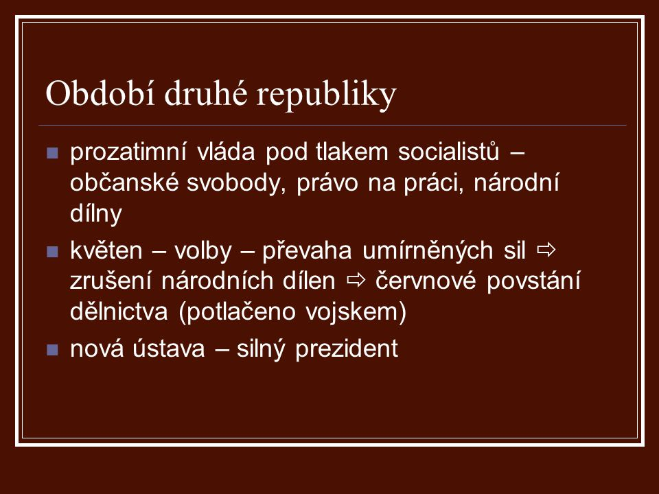 Období druhé republiky
