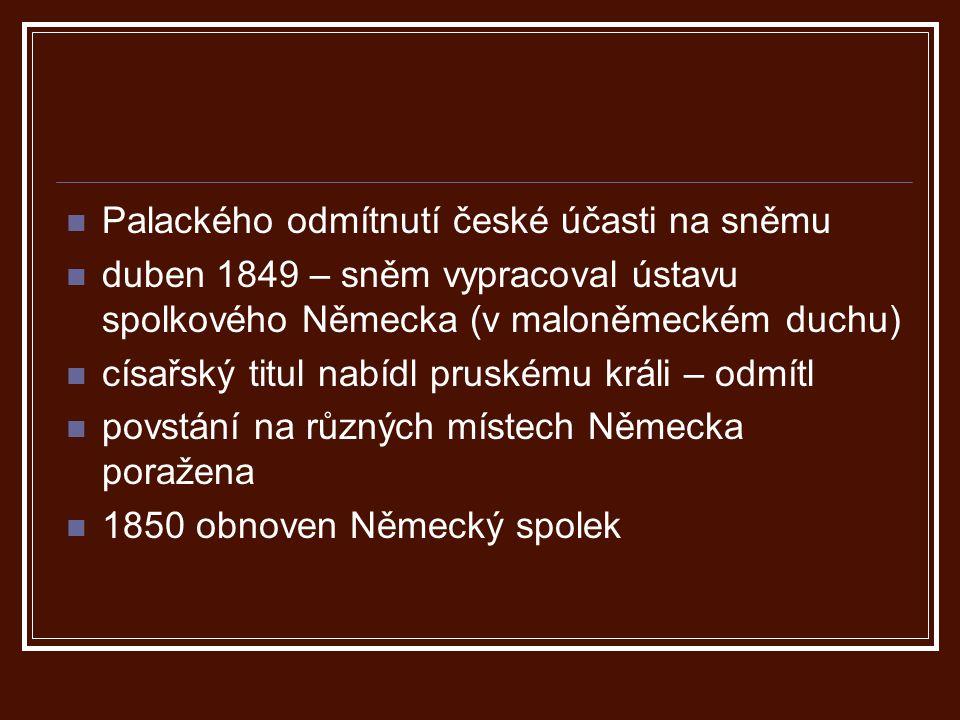 Palackého odmítnutí české účasti na sněmu