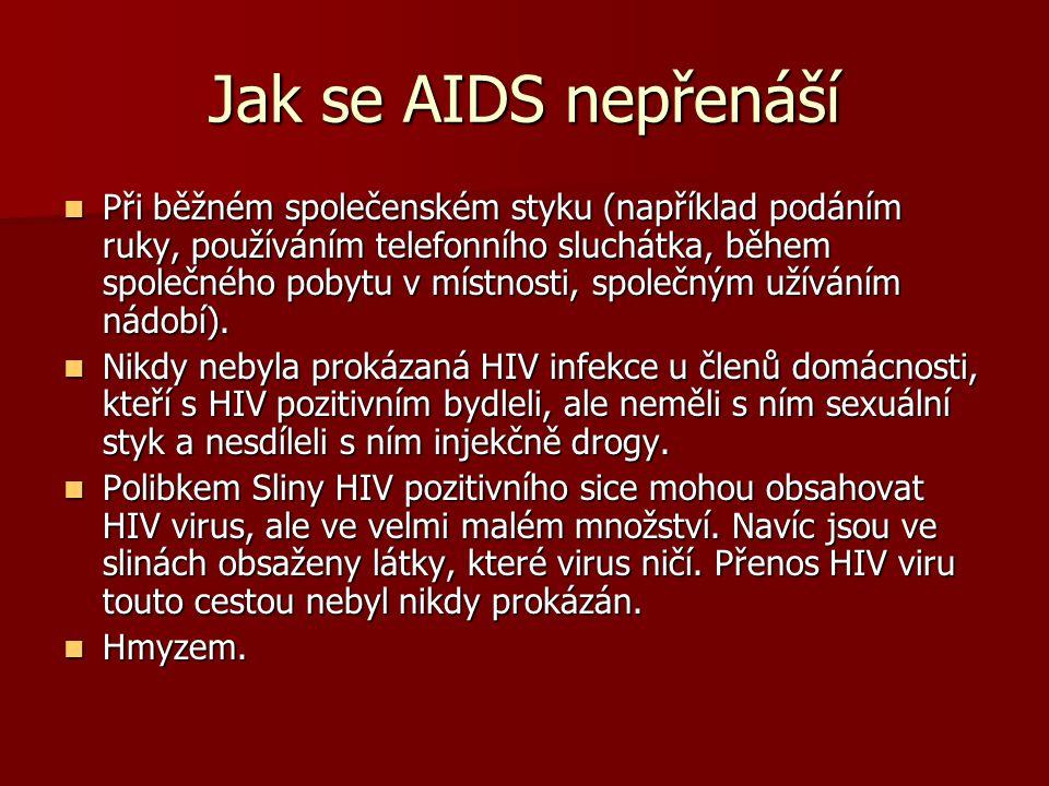Jak se AIDS nepřenáší