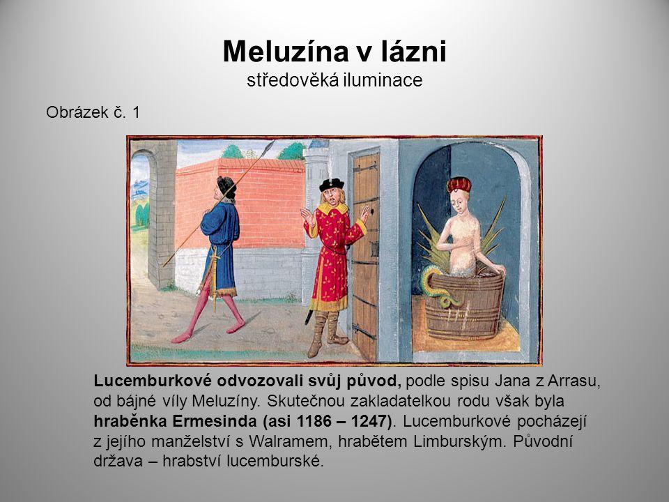Meluzína v lázni středověká iluminace