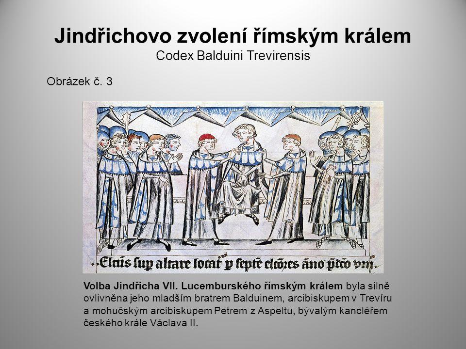 Jindřichovo zvolení římským králem Codex Balduini Trevirensis