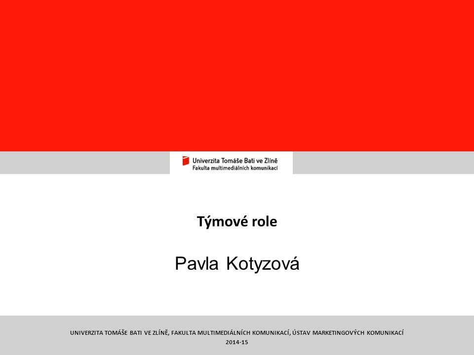 Týmové role Pavla Kotyzová