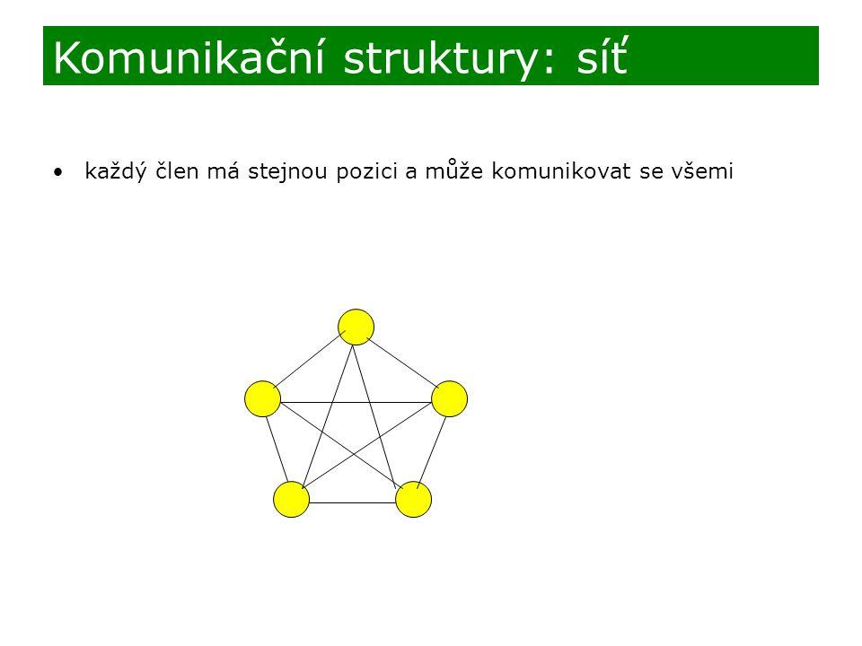 Komunikační struktury: síť