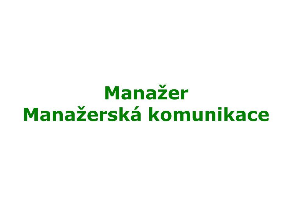 Manažer Manažerská komunikace
