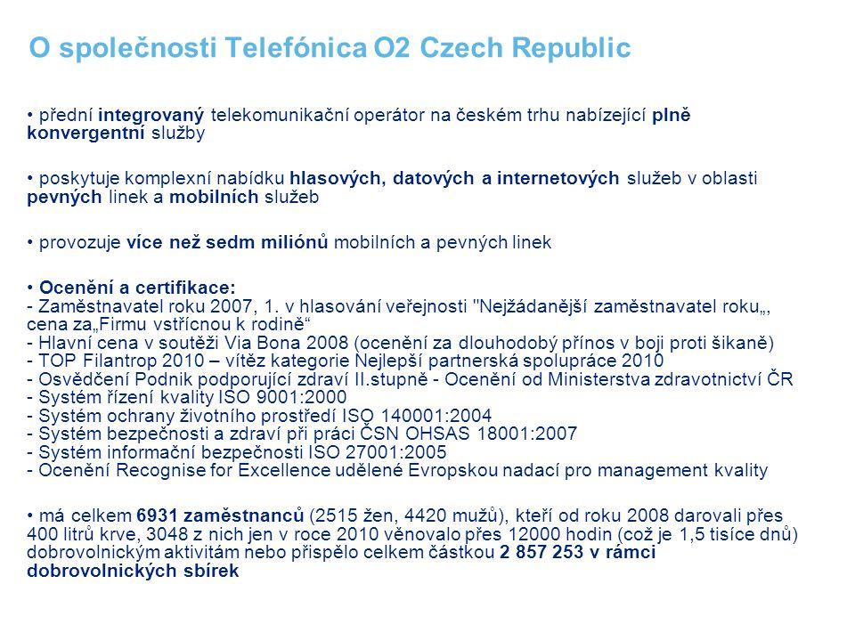 O společnosti Telefónica O2 Czech Republic