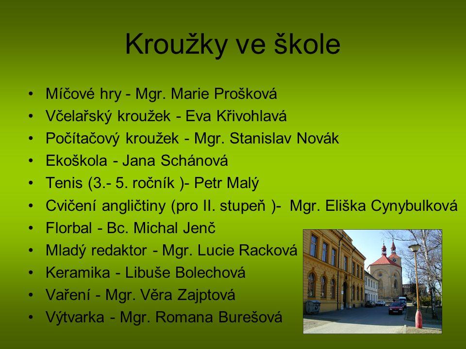 Kroužky ve škole Míčové hry - Mgr. Marie Prošková