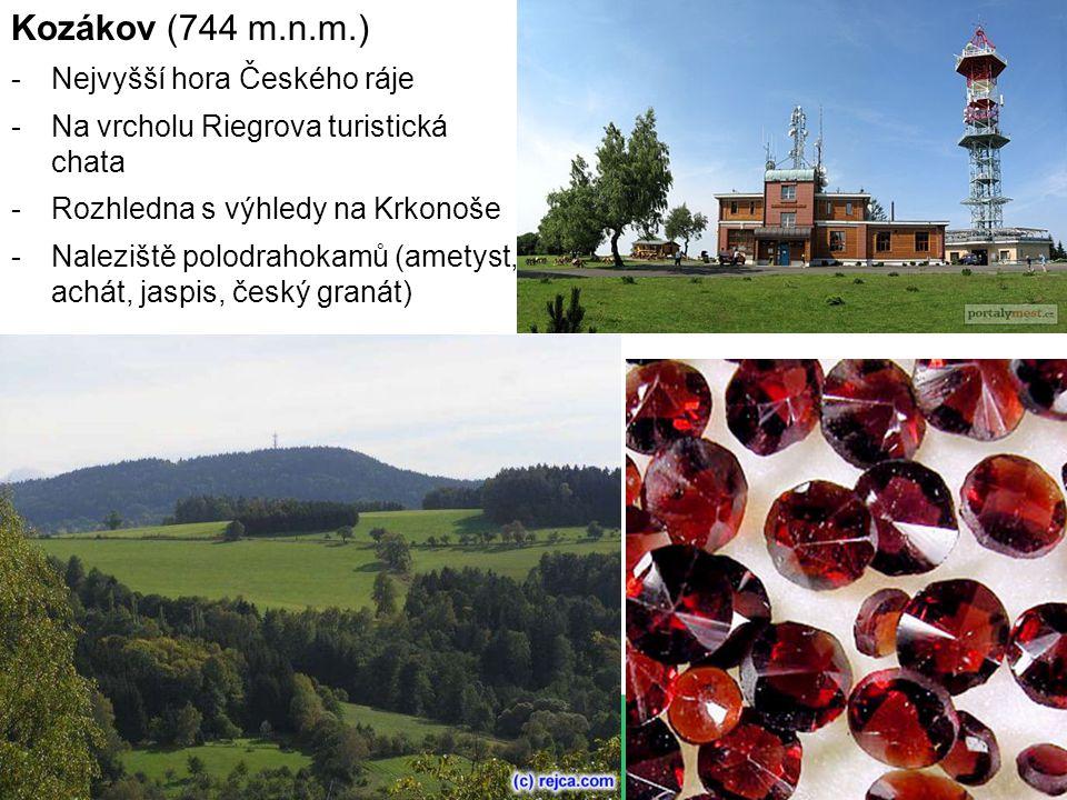 Kozákov (744 m.n.m.) Nejvyšší hora Českého ráje