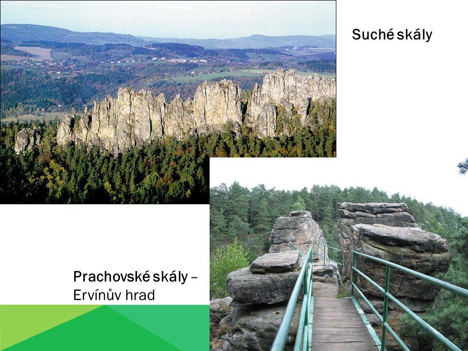 Suché skály Prachovské skály – Ervínův hrad