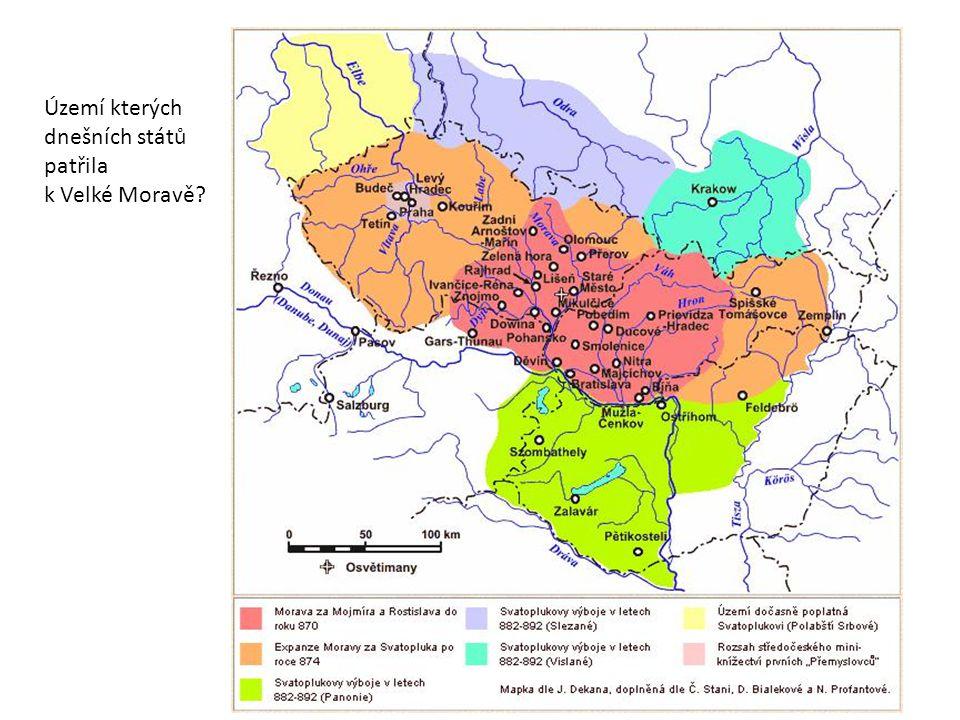 Území kterých dnešních států patřila k Velké Moravě