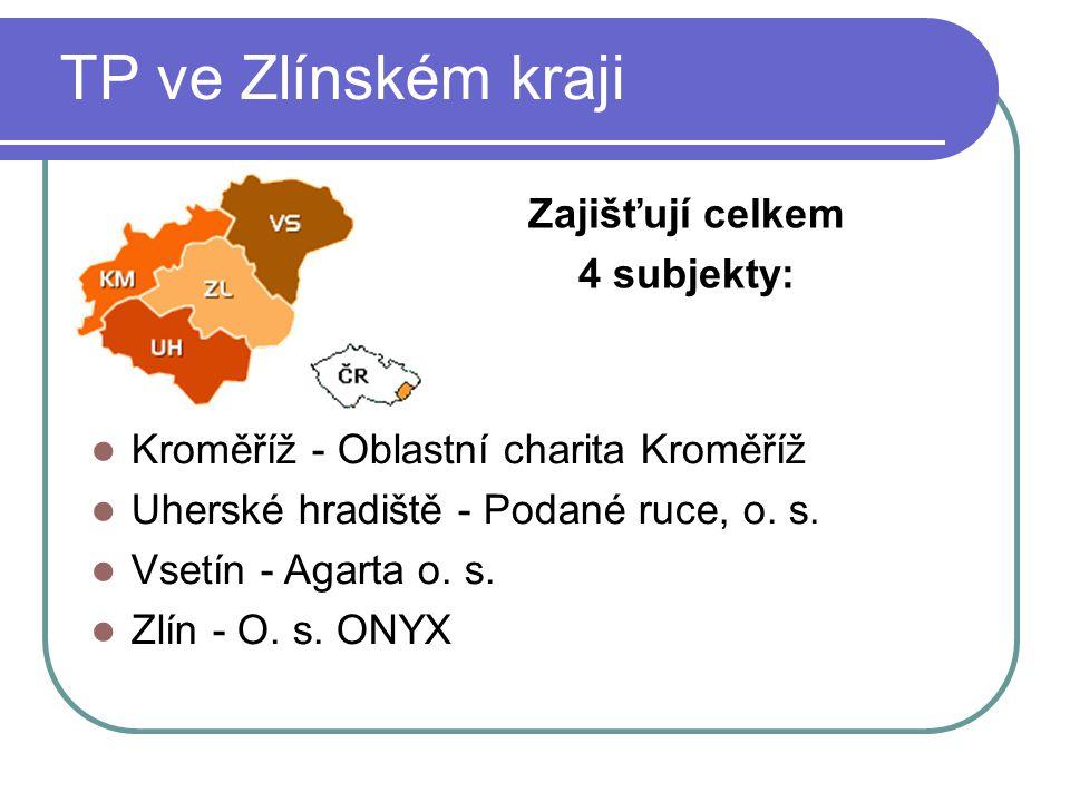 TP ve Zlínském kraji Zajišťují celkem 4 subjekty: