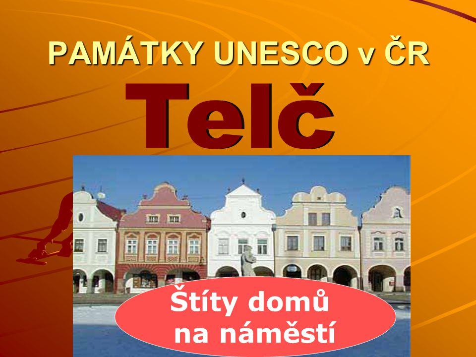 PAMÁTKY UNESCO v ČR Telč Štíty domů na náměstí