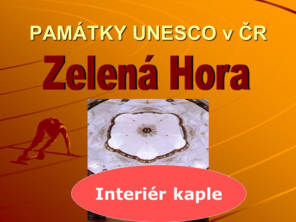 PAMÁTKY UNESCO v ČR Zelená Hora Interiér kaple