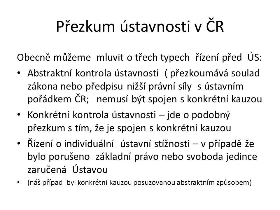 Přezkum ústavnosti v ČR