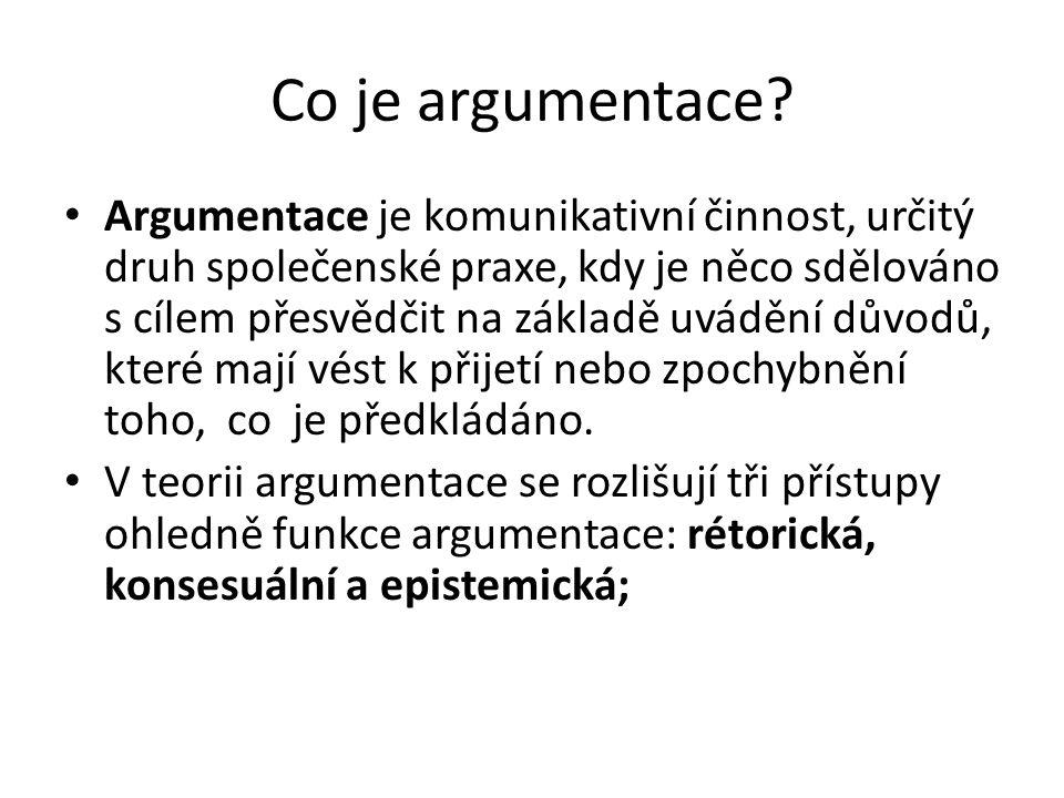 Co je argumentace
