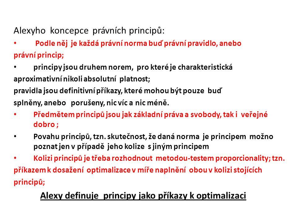 Alexyho koncepce právních principů: