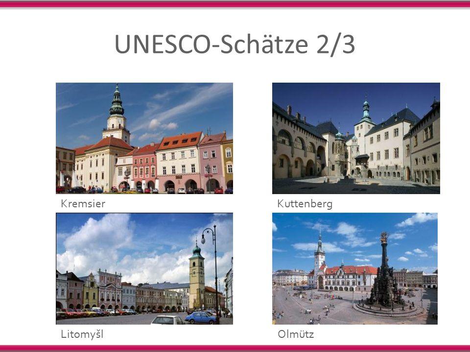 UNESCO-Schätze 2/3 Kremsier Kuttenberg Litomyšl Olmütz