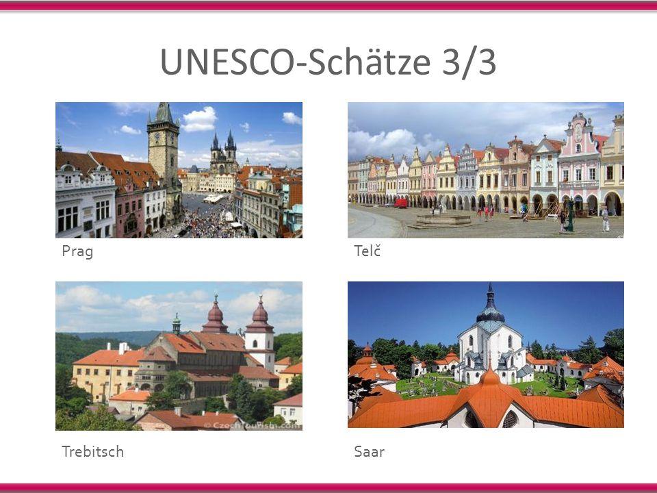 UNESCO-Schätze 3/3 Prag Telč Trebitsch Saar