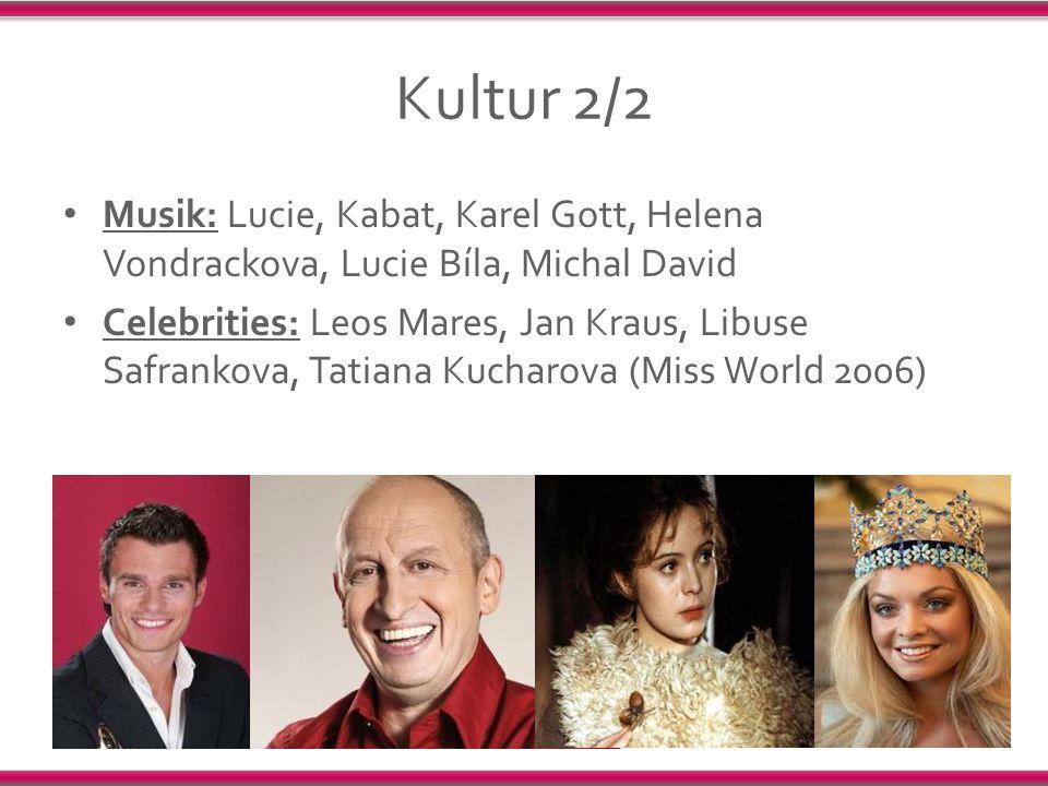 Kultur 2/2 Musik: Lucie, Kabat, Karel Gott, Helena Vondrackova, Lucie Bíla, Michal David.