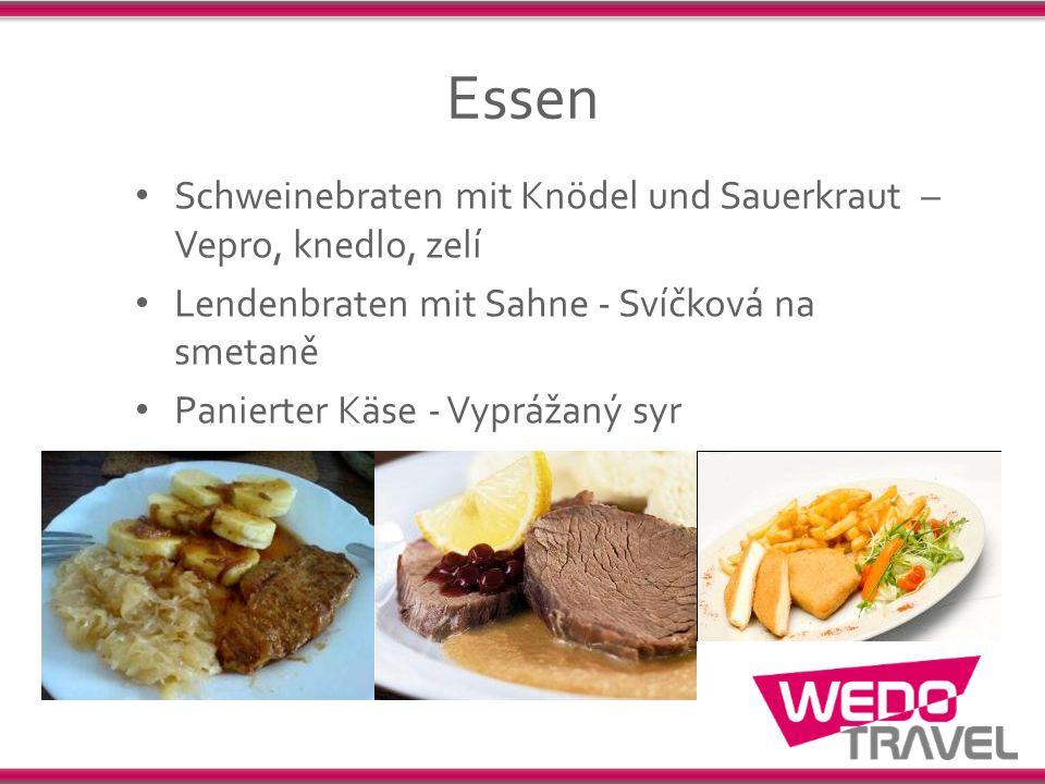 Essen Schweinebraten mit Knödel und Sauerkraut – Vepro, knedlo, zelí