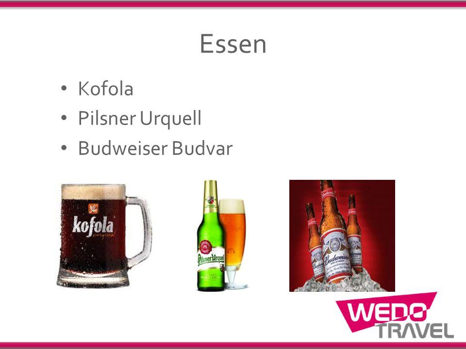 Essen Kofola Pilsner Urquell Budweiser Budvar
