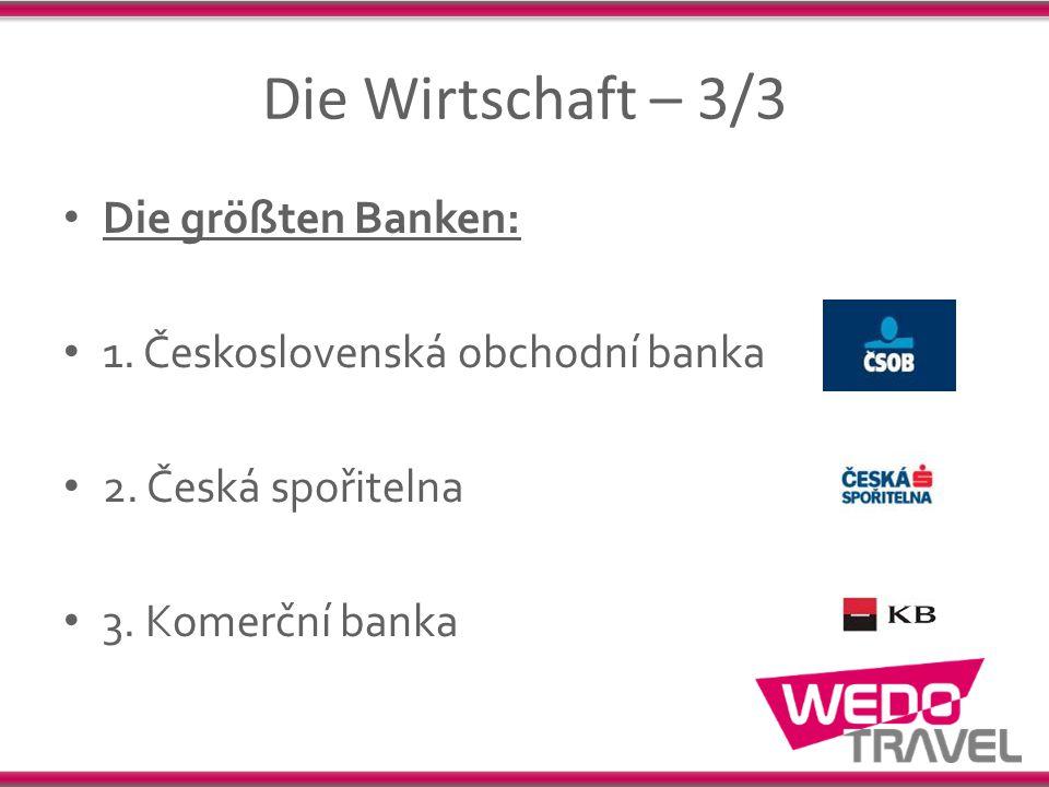 Die Wirtschaft – 3/3 Die größten Banken: