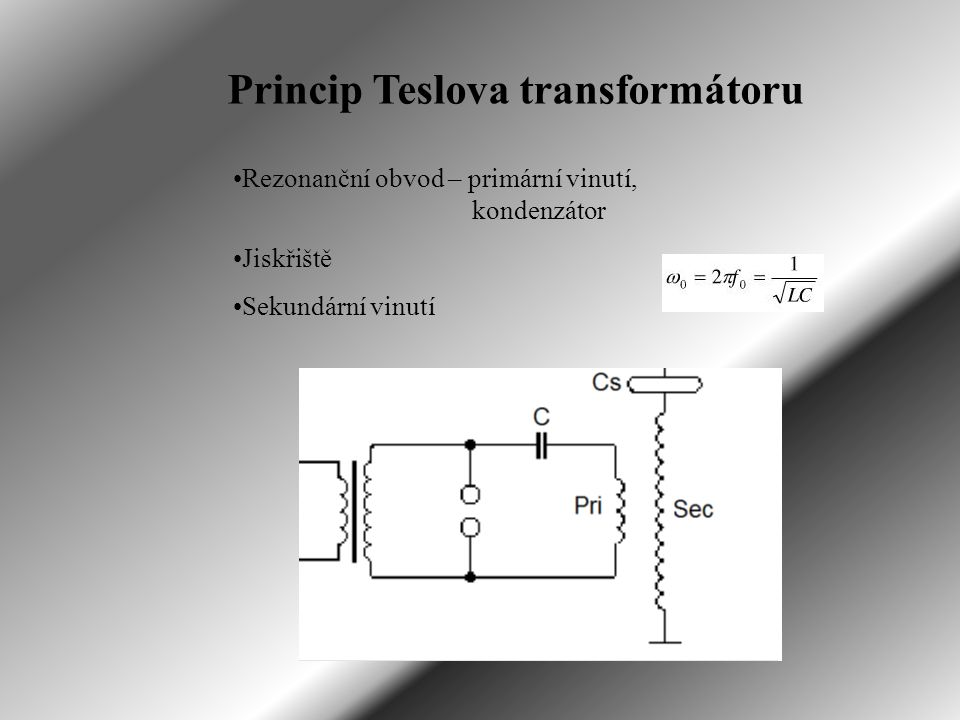 Princip Teslova transformátoru