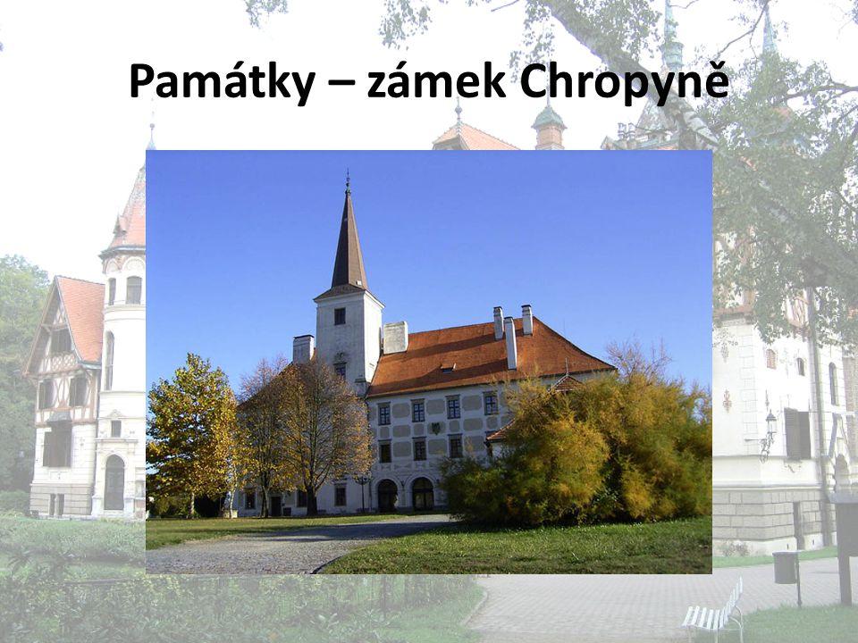 Památky – zámek Chropyně