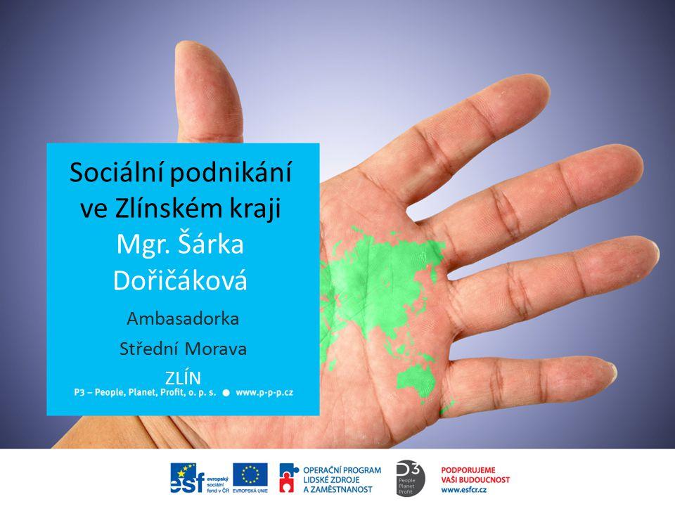 Sociální podnikání ve Zlínském kraji Mgr. Šárka Dořičáková