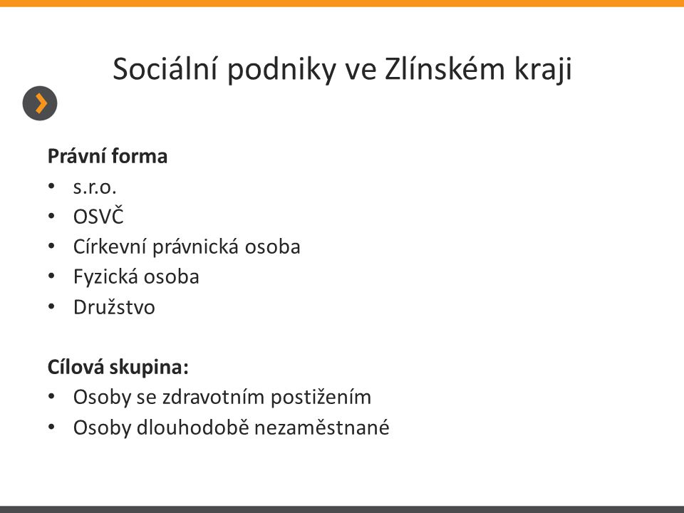 Sociální podniky ve Zlínském kraji