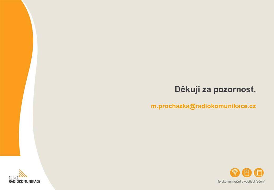 Děkuji za pozornost. m.prochazka@radiokomunikace.cz