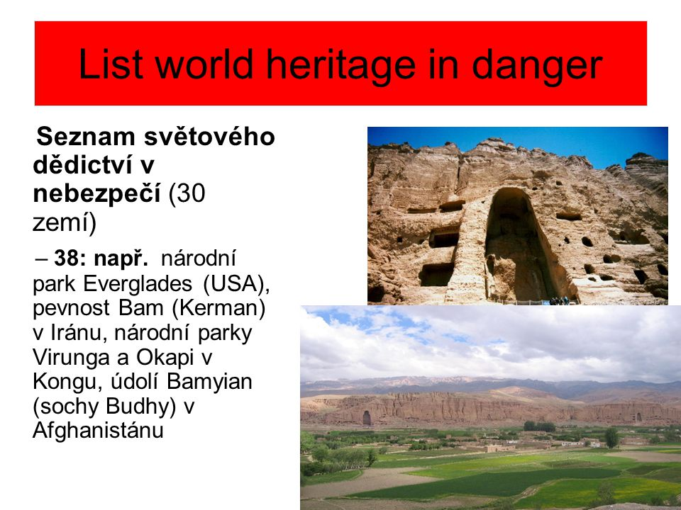 List world heritage in danger
