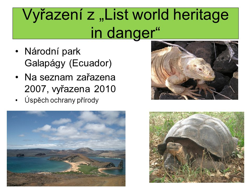 "Vyřazení z ""List world heritage in danger"