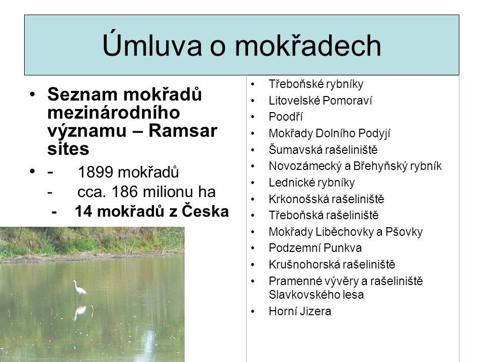 Úmluva o mokřadech Seznam mokřadů mezinárodního významu – Ramsar sites