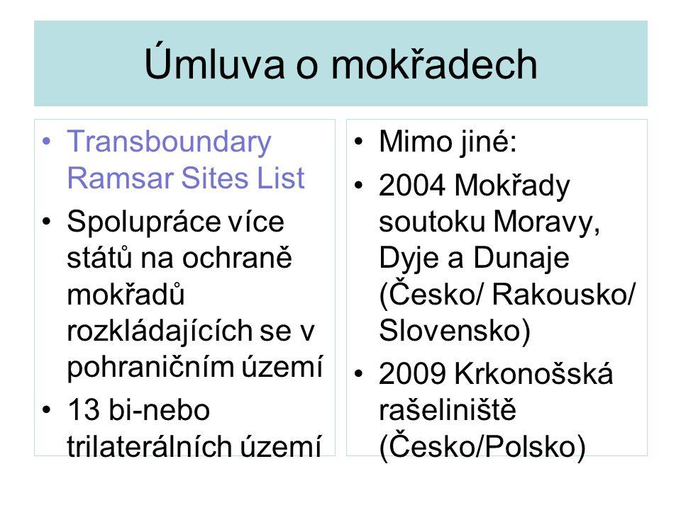 Úmluva o mokřadech Transboundary Ramsar Sites List