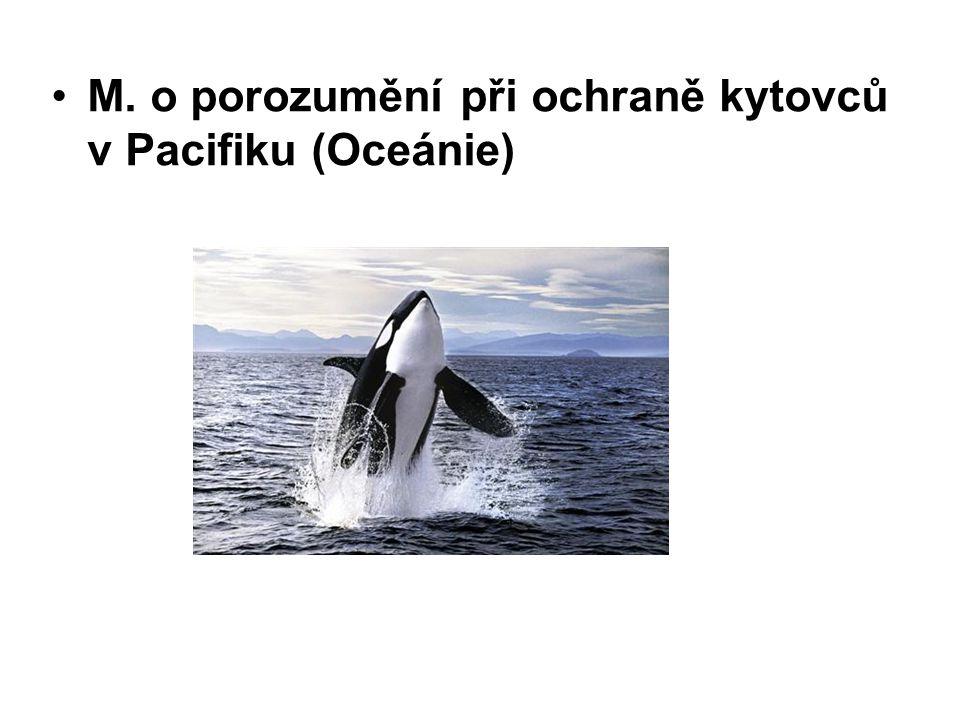 M. o porozumění při ochraně kytovců v Pacifiku (Oceánie)