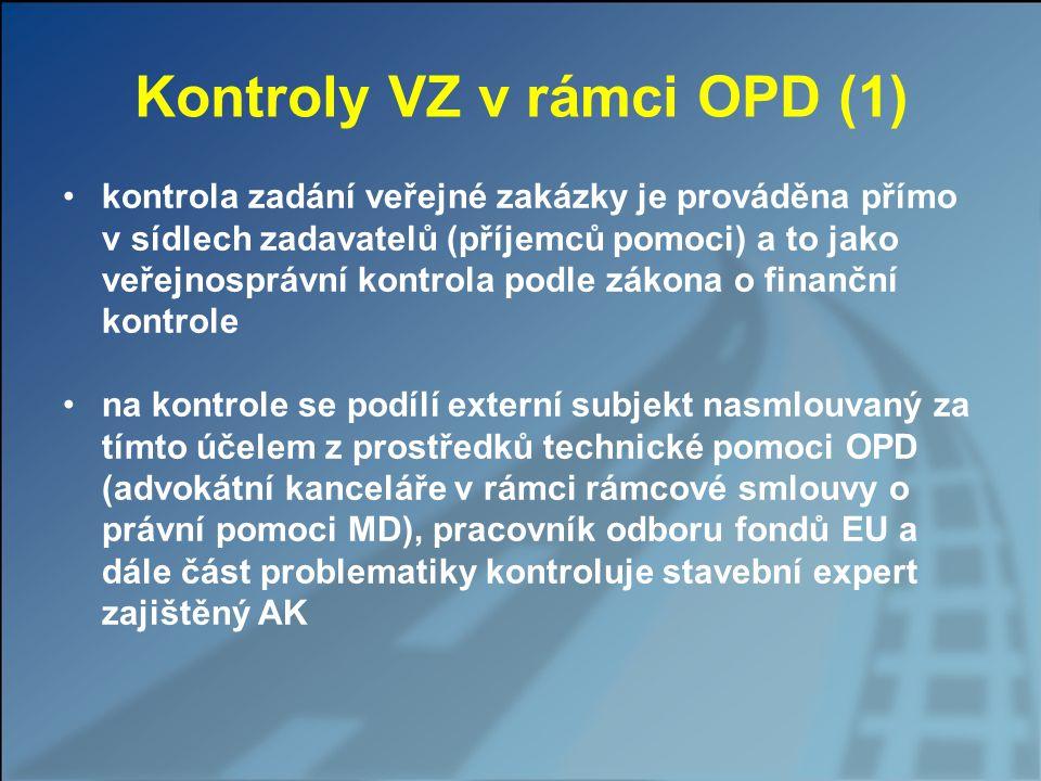Kontroly VZ v rámci OPD (1)