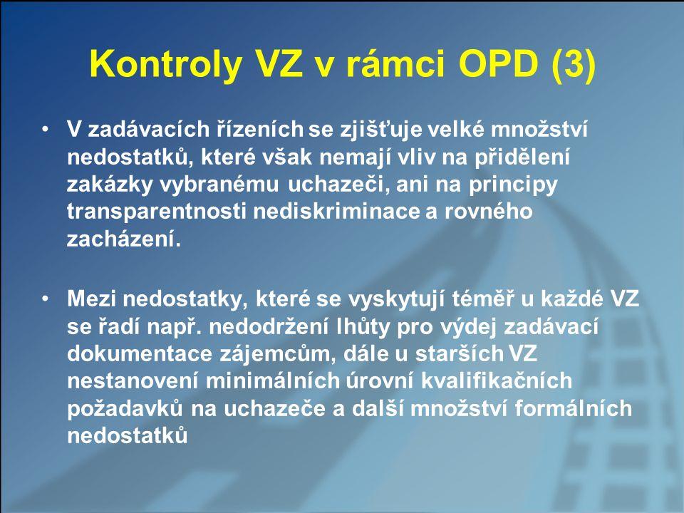 Kontroly VZ v rámci OPD (3)