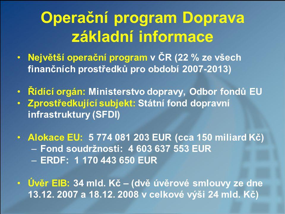Operační program Doprava základní informace