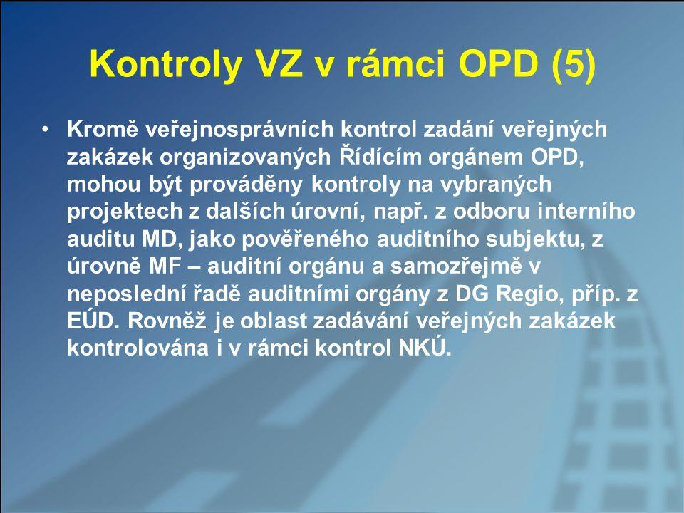 Kontroly VZ v rámci OPD (5)
