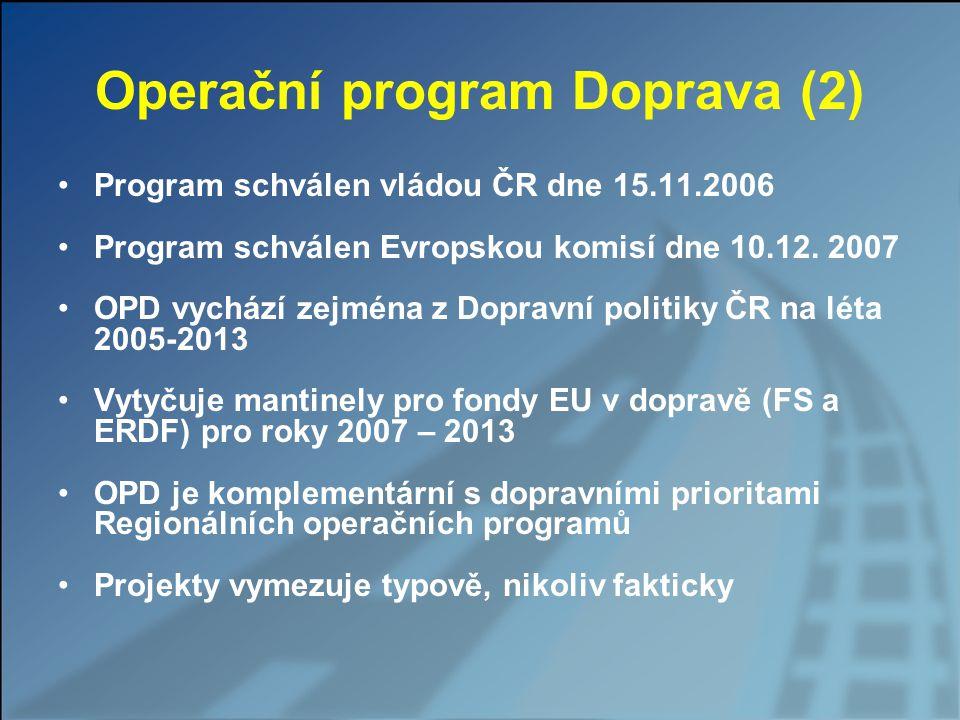 Operační program Doprava (2)